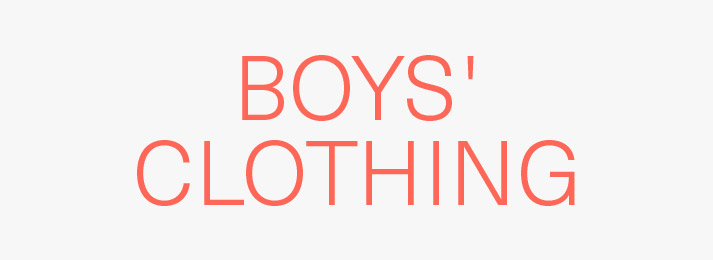 Up to 40% off boys' clothing