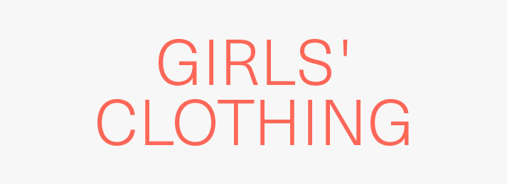 Up to 40% off girls' clothing