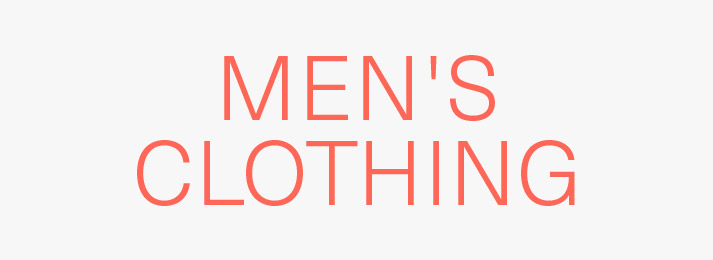 Up to 40% off men's clothing