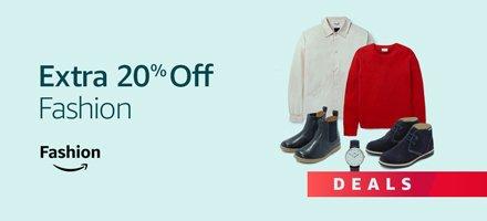 Extra 20% Off Fashion