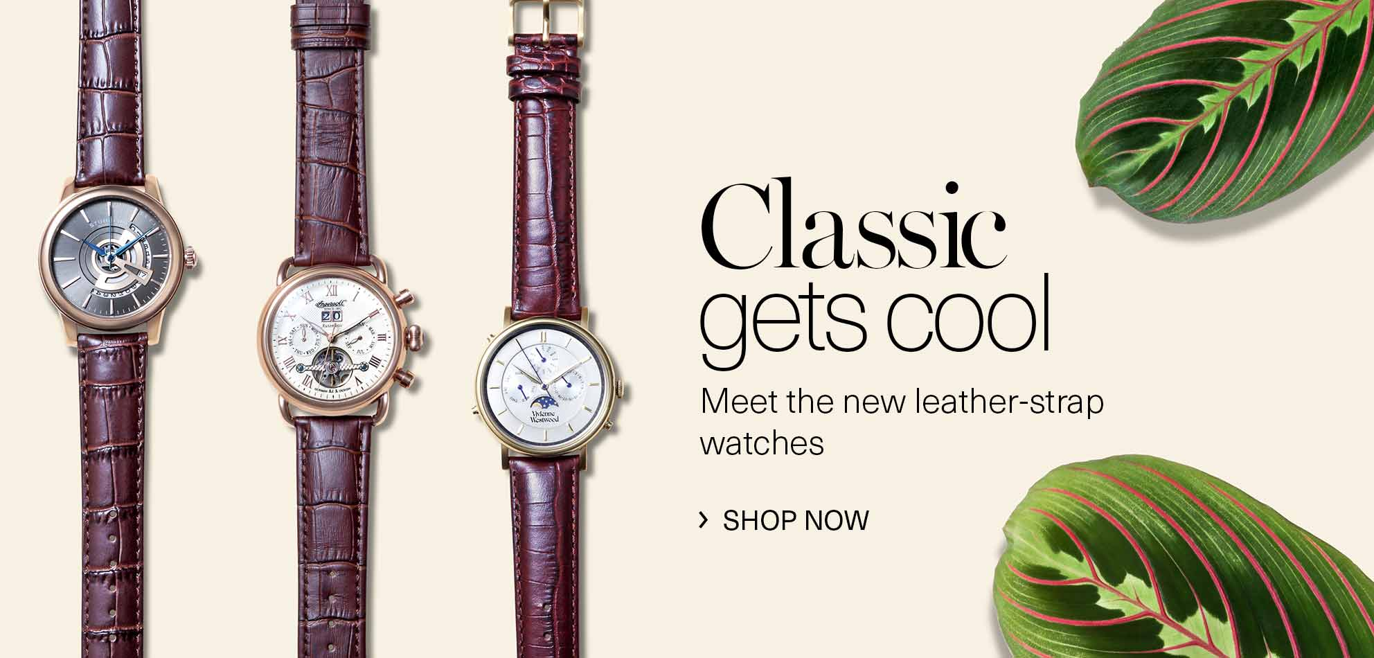 men s watches amazon co uk leather strap watches for him