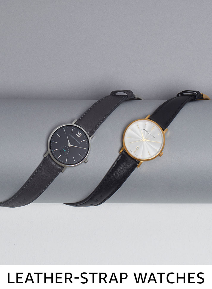 Leather-strap watches