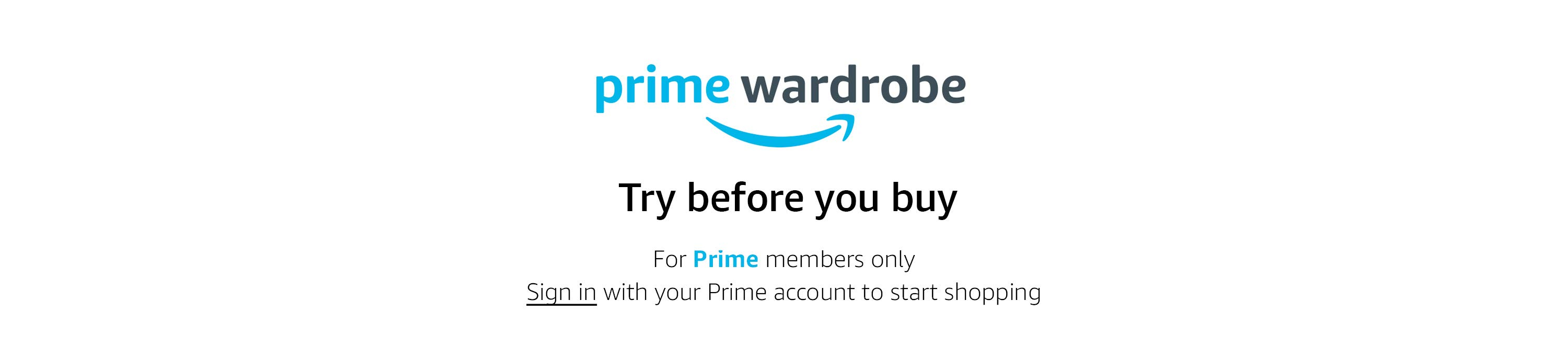 Introducing Prime Wardrobe: try before you buy