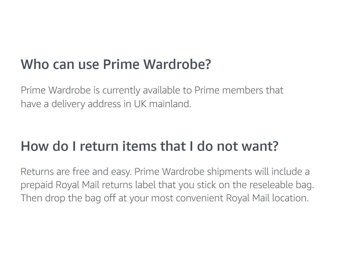 Who can use Prime Wardrobe? How do I return items?
