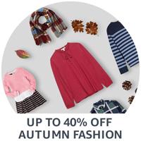 Up to 40% off autumn fashion