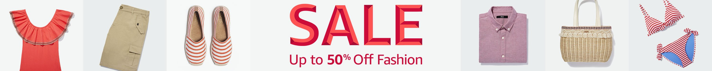 Upt to 50% off fashion