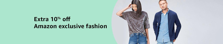 Extra 10% off Amazon exclusive fashion