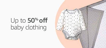 Up to 50% off baby clothing