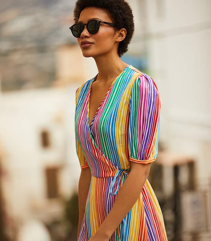 find. rainbow dress
