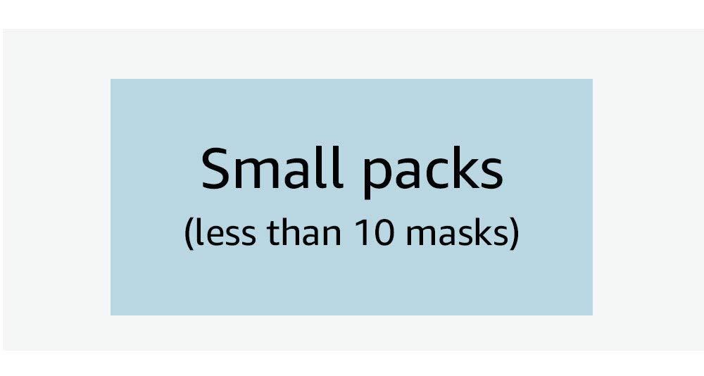 Small packs (less than 10 masks)