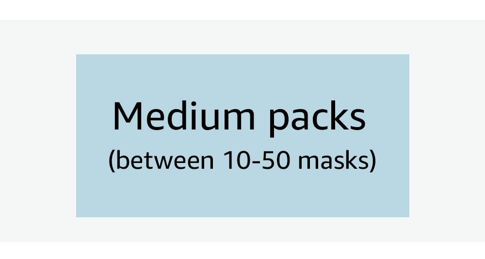 Medium packs (between 10-50 masks)