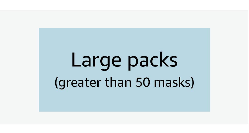 Large packs (greater than 50 masks)