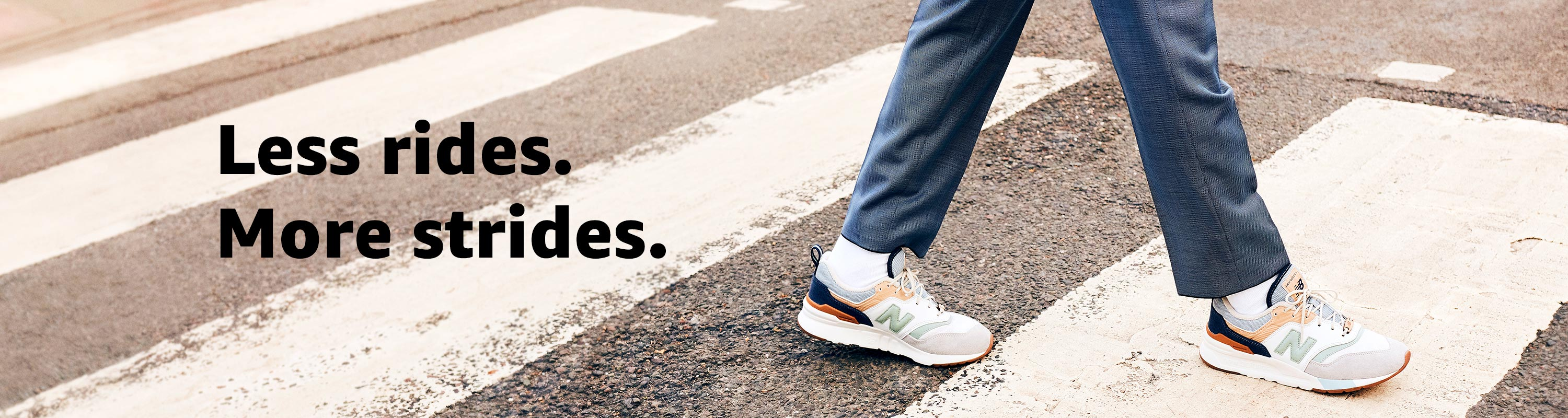 Less Rides. More Strides.