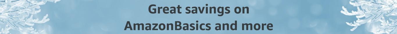 Great Savings on AmazonBasics and more