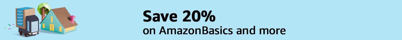 Save 20% on AmazonBasics and more