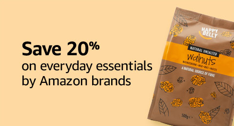 Save 20% on everyday essentials from Amazon brands