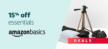 15% off essential products from AmazonBasics