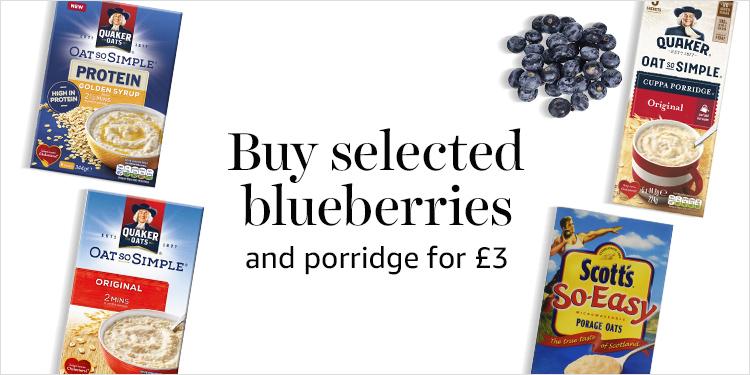 Buleberries and Porridge for £3