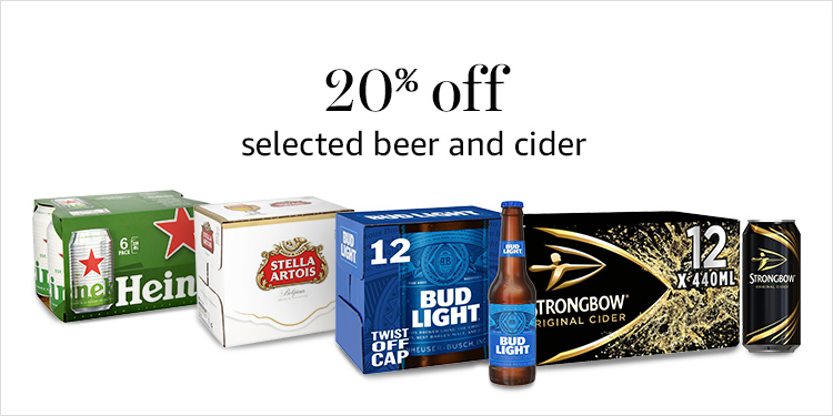 20% off beer and cider