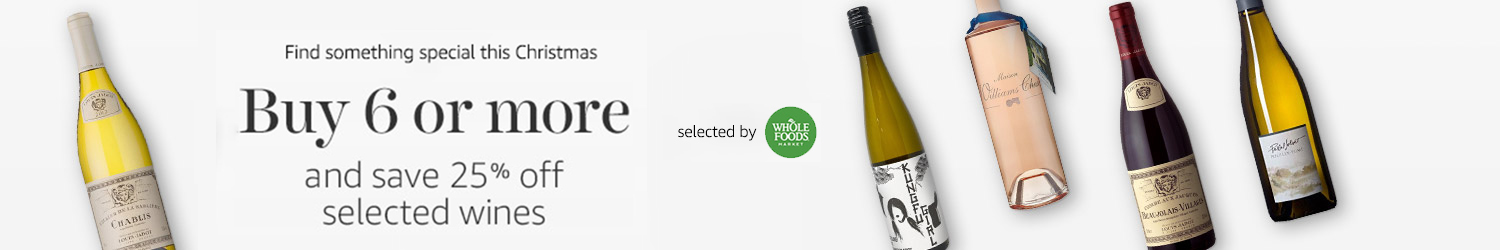 Buy 6 or more and save 25% on selected wines