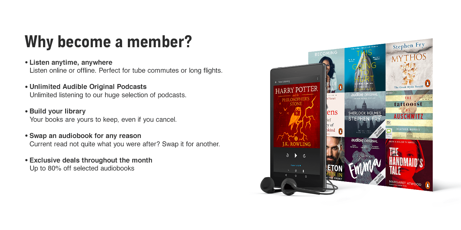 why become an audible member
