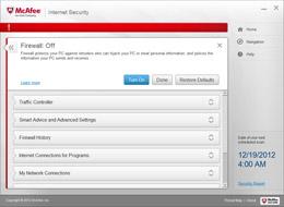Firewall alert screenshot