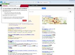 Site advisor screenshot
