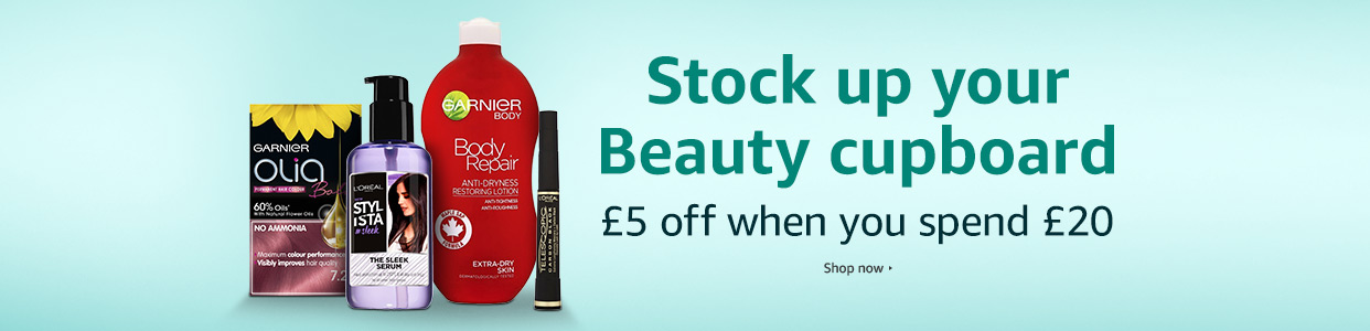 £5 off £20 on selected Beauty items