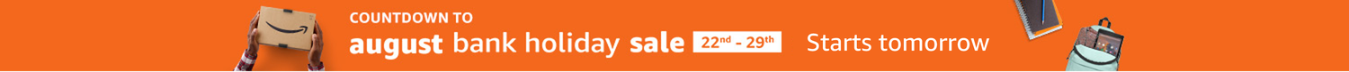 Countdown to the August bank holiday sale. Starts on Wednesday 22nd August