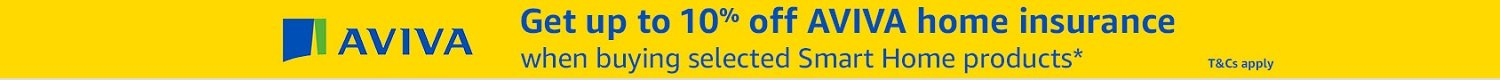 Get up to 10% off Aviva home insurance when buying selected smart home products. Terms and conditions apply.