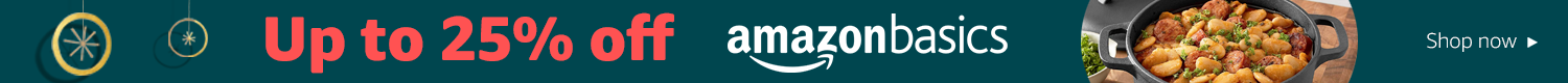 Up to 25% off AmazonBasics