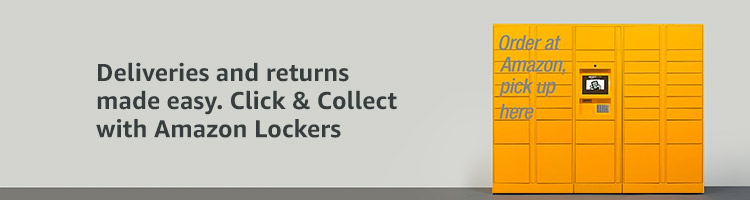 Deliveries and returns made easy  Click & Collect with Amazon Lockers.