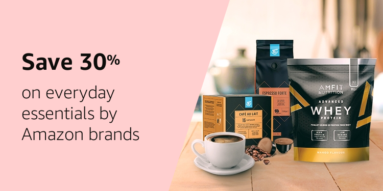Save 30% on everyday essentials by Amazon brands