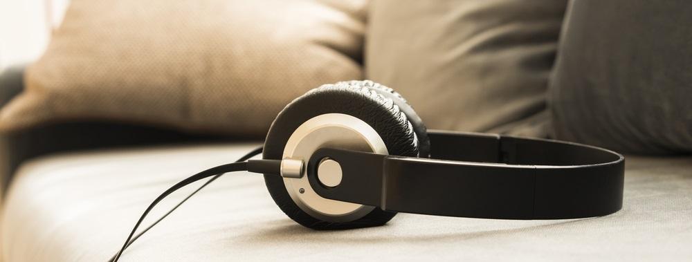 Photo sound music headphone earphone stereo volume equipment object closeup photo of headphones on