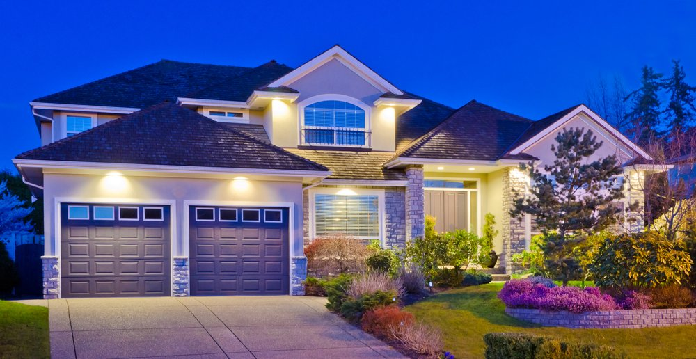 Photo luxury house at dusk in vancouver canada