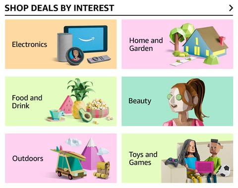 Shop deals by interest