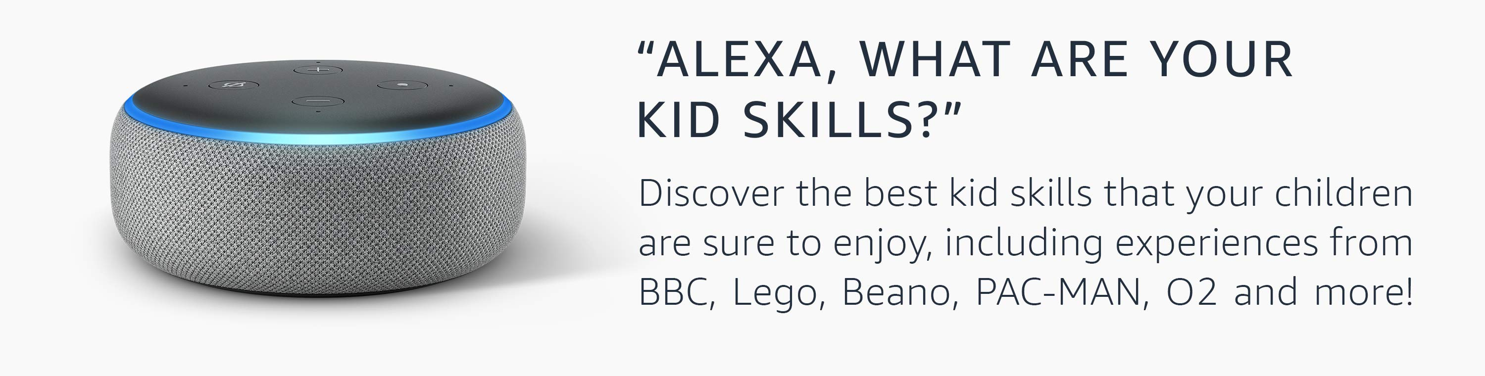 Alexa, what are your Kid Skills?