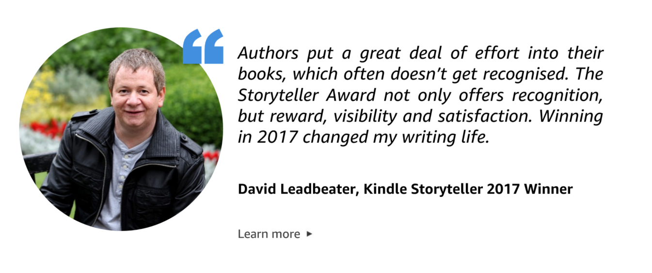 Quote from David Leadbeater, Storyteller 2018 Winner