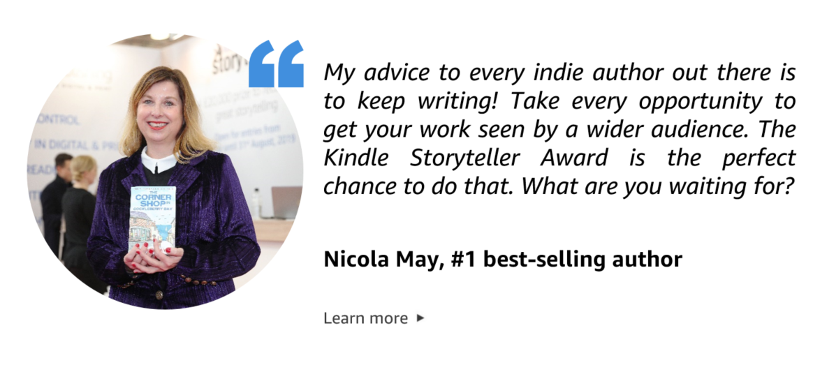 Quote from Nicola May, best-selling author