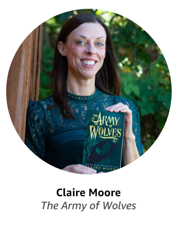 Claire Moore, author of The Army of Wolves