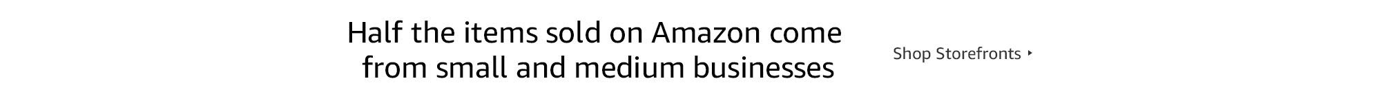 Small and medium businesses Amazon storefronts