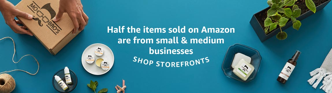 Half the items sold on Amazon are from small and medium businesses