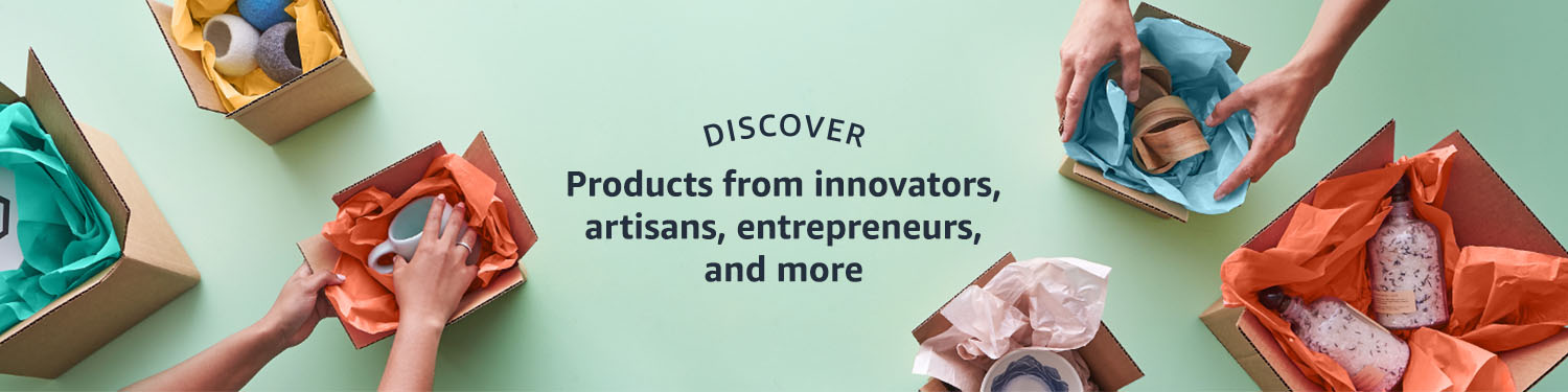 Discover products from innovators, artisans, entrepreneurs, and more