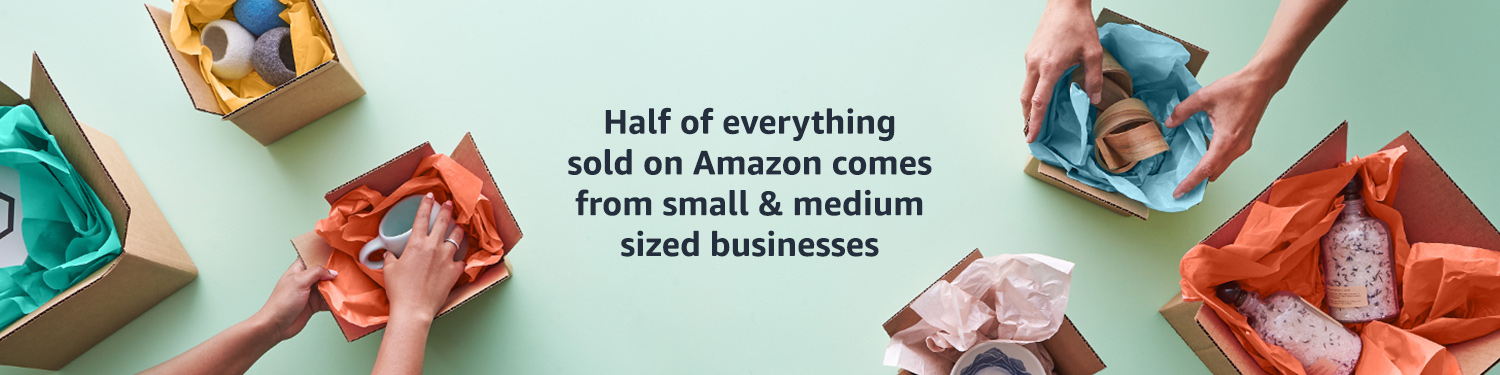 Half of everything sold on Amazon comes from small & medium sized businesses