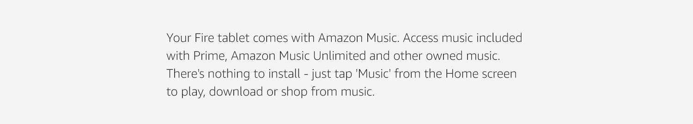 Amazon co uk: Amazon Music on Fire Tablets: Digital Music