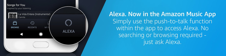 Alexa. Now in the Amazon Music App