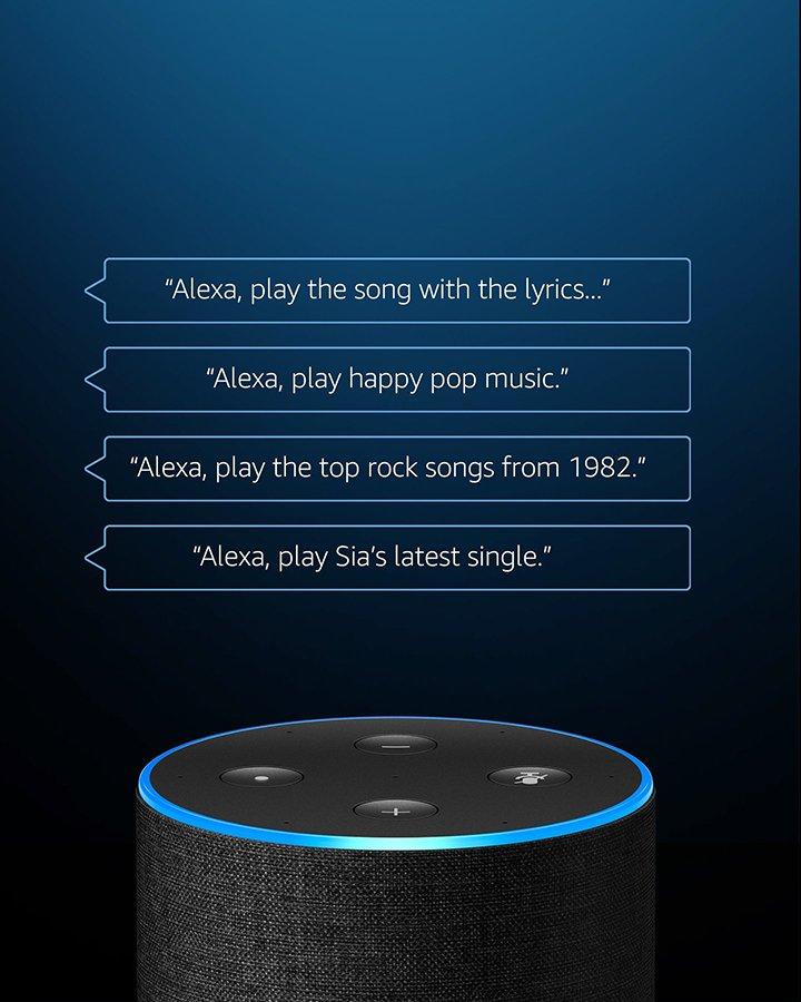 Better with Amazon Echo. Just ask. Play your favourite music with innovative Alexa voice controls, exclusive to Amazon Music