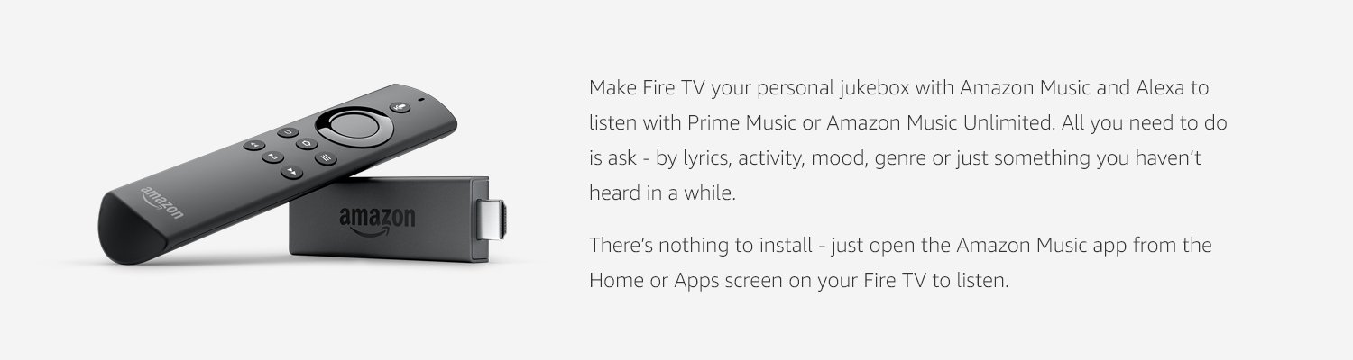 Music app on Fire TV