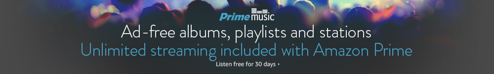 Enjoy over a million songs ad-free with Amazon Prime