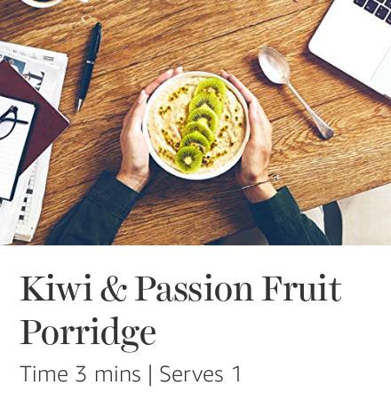 Kiwi & Passionfruit Quaker Porridge